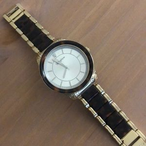Brighton gold/tortoise shell watch